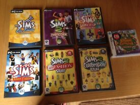 Sims games for PC plus Animal Crossing