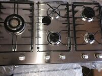 Brand new Whirlpool stainless steel 5 burner hob for sale