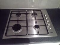 Zanussi stailess steal gas hob 60cm