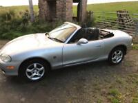 52 2002 Mazda MX5 1.6 Sport Convertible. 1 Years MOT, Low Mileage
