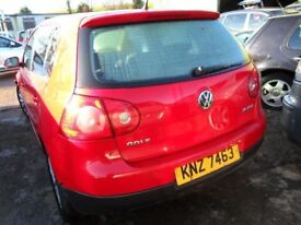 volkswagen golf parts from a 2007 1.4 6 speed petrol car red
