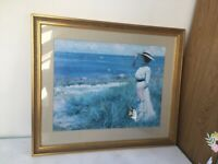 Large gold frame picture