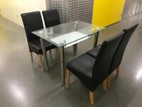 Glass table and chairs, Free delivery