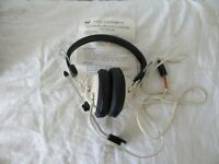 Headphone with boom microphone