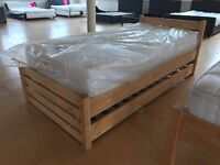 JOHN LEWIS WILTON REAL WOOD SINGLE GUEST BED DETACHABLE OPTIONAL WITH MATTRESS FREE DELIVERY NEW