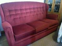 Three seater settee and electric recliner chait