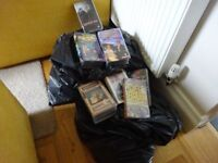 About 100 VHS Tapes. Some good titles e.g. Titanic, Walace and Gromit, X-files. Take them all FREE.