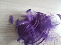 Ladies Violet Purple LK Bennett Fascinator – Also Matching Dress