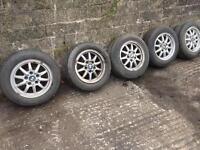 X5 BMW e36 alloy wheels cheap 5 good tyres Lexus ford sierra Donegal rwd