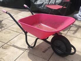 90 litre Haemmerlin Pink Wheelbarrow
