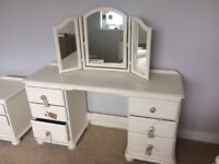 Beautiful shabby chic vanity table and mirror