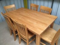 Pine table and chairs dining table and chairs