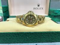 BrandNew Ladies Rolex Yacthmaster II gold face automatic sweeping movement