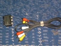 XBOX 360 AV cable with scart adapter