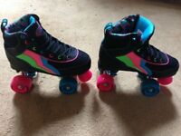 NEW Rio Roller Classic II Quad Roller Skates - Passion UK size 3.