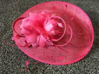 Pink Fascinator with Feathers