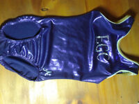 Exeter Gym Club purple sparkly child's leotard