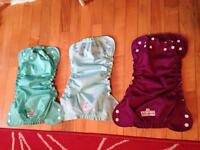 Applecheeks size 2 diapers 3 brand new 6 used.