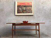Mid Century Long Coffee Table
