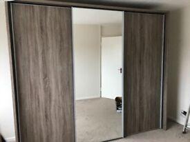 Perfect Condition 3 Door Sliding Modern Wardrobe