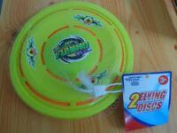 2 New flying discs unused only 50p