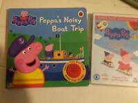 Peppa pig book sounds and triple pack of DVDs, hardly used, can post