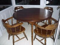 Vintage capitans chairs and table bow cottage