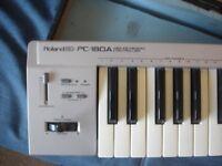 ROLAND PC-180A MIDI CONTROLLER , COMES WITH FLIGHT CASE