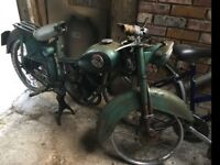 Barn find Motorbike moped scooter restoration