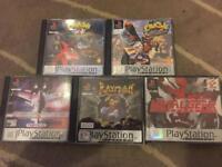 PlayStation 1 ps1, crash bandicoot metal gear n more