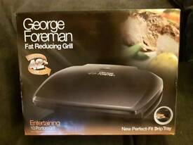 NEW George Foreman 10 portion fat reducing grill