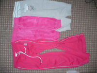 Bundle of 2 cropped trousers and track suit bottom for girl 9-10 years. Good condition. Hello Kitty.