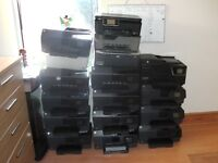 17 X HP Printers (mostly have problems with cartridges or printheads)