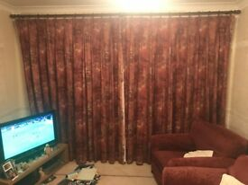 ** 2x Wilman Curtains - Wine Red - £99 **