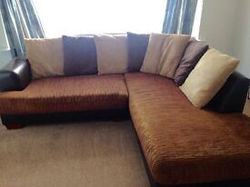 Used. Great con. Left hand corner sofa from Harvey's. Half leather. Removable cushions. Sheerness