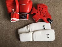 Adult kickboxing items in good condition