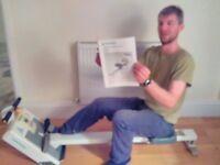 Tunturi rowing machine.
