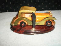 pan holders Hand made wooden car