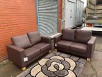 Brand new leather sofas x2 Delivery 🚚 sofa suite couch furniture