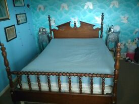 Quirky Gothic 4 Poster Wooden kingsize bed frame-click and go!