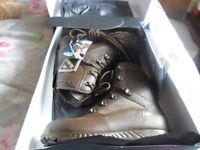 Haix Combat High Liability GTX waterproof brown boots UK 8
