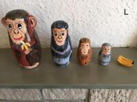 Various Russian nesting dolls and egg. (L-R) please see prices in details