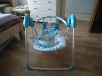 Blue baby swing rocky chair with motion and 7 songs