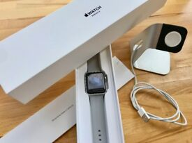 Apple Watch S3 42 Silver Aluminium Case with Fog Sport Band + 7 Accessories