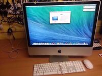 """iMac 24"""" Early 2009 core 2 Duo 2.66 GHz, Memory 6GB , Hard Drive 250GB SSD. Read details."""