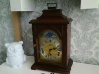 Franz hermle moon phaze mantle clock + key