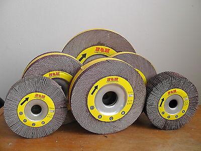 10 Abrasive Flap Sanding Wheel 6 X 2 X 1 Aluminum Oxide 120 Grit -wholesale
