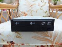LG Sata 22x DVD Rewriter Lightscribe Optical Drive (Black)