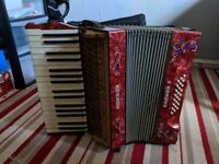 Red Marble Hohner Accordion (1930/40) Reasonable Offers Accepted