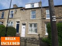 5-BED mid-terraced house in Crookes and within close proximity of the University. BILLS INCLUSIVE